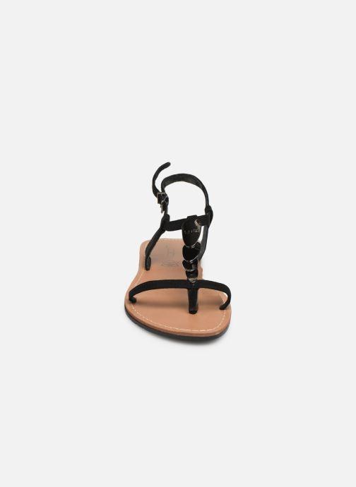 Sandales et nu-pieds Les P'tites Bombes PEPITA Noir vue portées chaussures