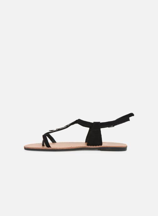 Sandales et nu-pieds Les P'tites Bombes PEPITA Noir vue face