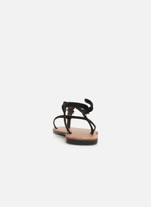 Sandales et nu-pieds Les P'tites Bombes PEPITA Noir vue droite