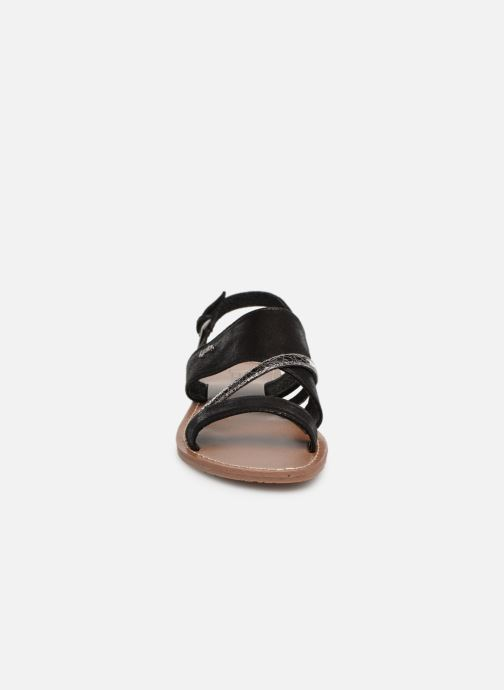 Sandales et nu-pieds Les P'tites Bombes PHIBBY Noir vue portées chaussures