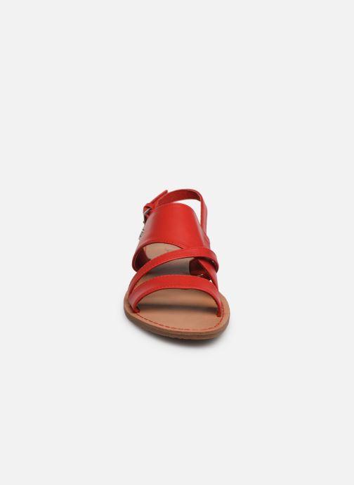 Sandales et nu-pieds Les P'tites Bombes PHIBBY Rouge vue portées chaussures