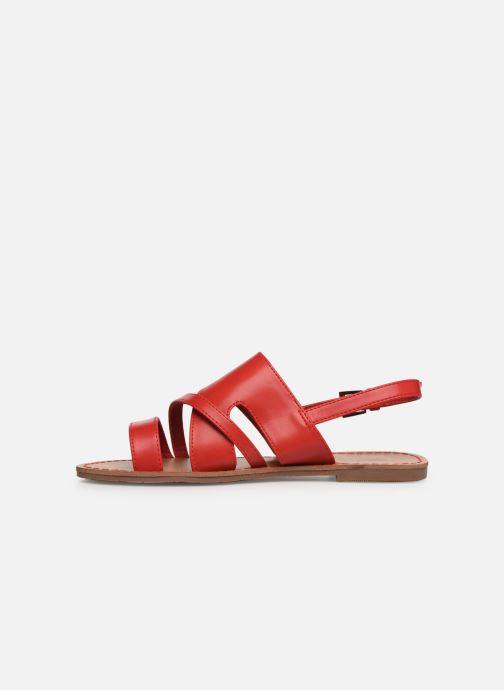 Sandales et nu-pieds Les P'tites Bombes PHIBBY Rouge vue face