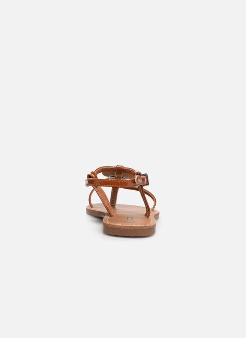 Sandales et nu-pieds Les P'tites Bombes PIPA Marron vue droite