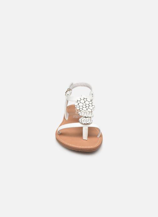 Sandales et nu-pieds Les P'tites Bombes PIPA Blanc vue portées chaussures