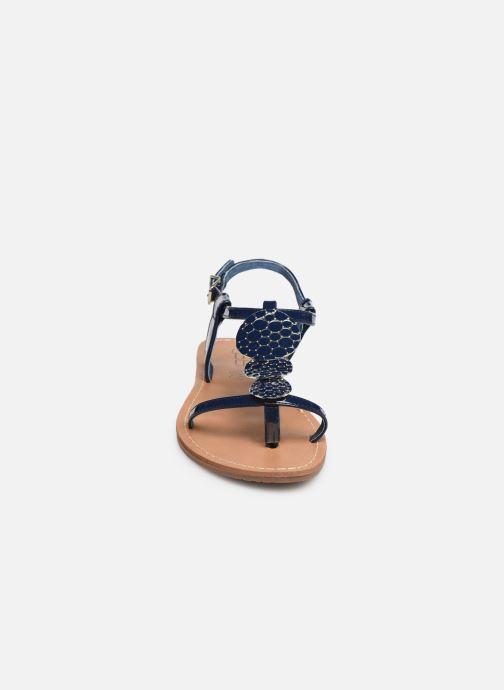 Sandales et nu-pieds Les P'tites Bombes PIPA Bleu vue portées chaussures