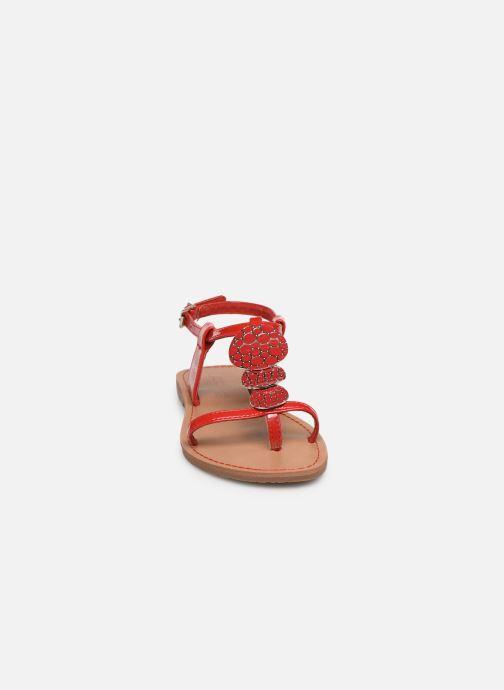Sandales et nu-pieds Les P'tites Bombes PIPA Rouge vue portées chaussures
