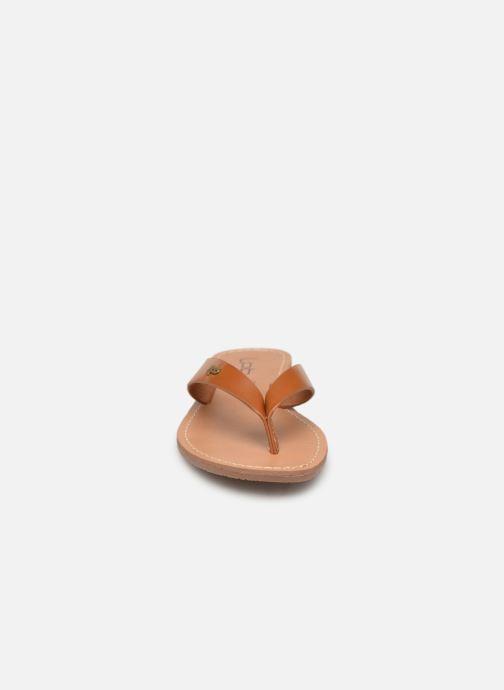 Tongs Les P'tites Bombes PRISKA Marron vue portées chaussures