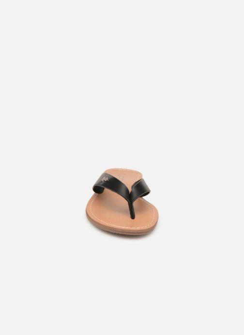 Tongs Les P'tites Bombes PRISKA Noir vue portées chaussures