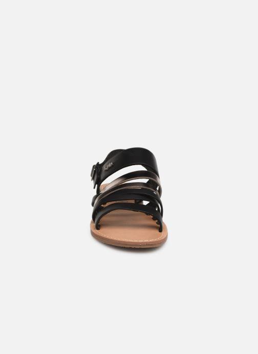 Sandales et nu-pieds Les P'tites Bombes RACHEL Noir vue portées chaussures