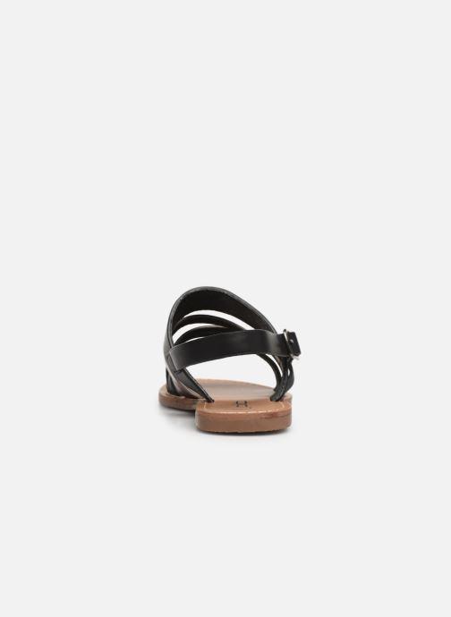 Sandales et nu-pieds Les P'tites Bombes RACHEL Noir vue droite