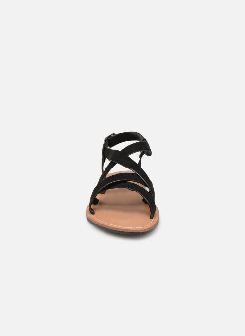 Sandales et nu-pieds Les P'tites Bombes ROMANE Noir vue portées chaussures