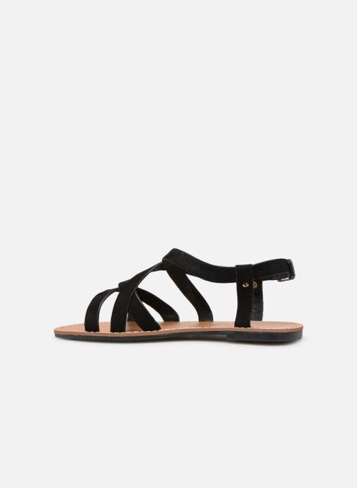Sandales et nu-pieds Les P'tites Bombes ROMANE Noir vue face