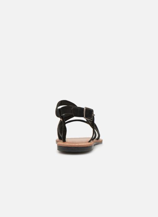 Sandales et nu-pieds Les P'tites Bombes ROMANE Noir vue droite