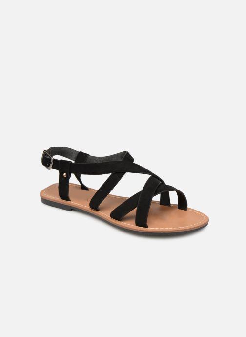 Sandales et nu-pieds Les P'tites Bombes ROMANE Noir vue détail/paire