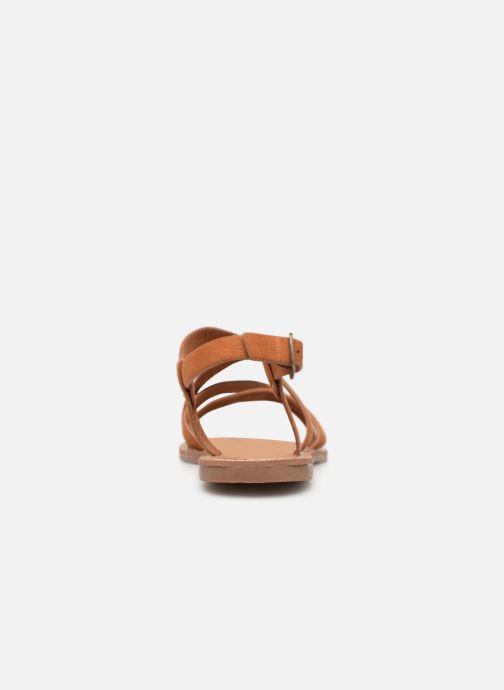 Sandales et nu-pieds Les P'tites Bombes ROMANE Marron vue droite