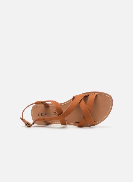 Sandales et nu-pieds Les P'tites Bombes ROMANE Marron vue gauche