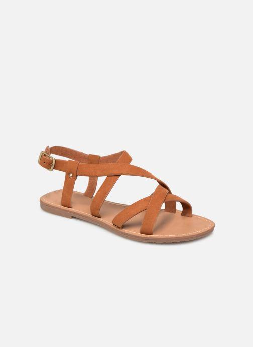 Sandales et nu-pieds Les P'tites Bombes ROMANE Marron vue détail/paire