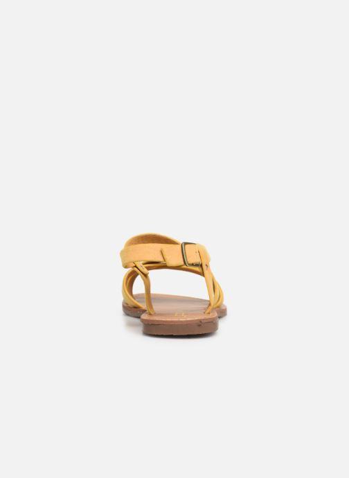 Sandales et nu-pieds Les P'tites Bombes ROMANE Jaune vue droite
