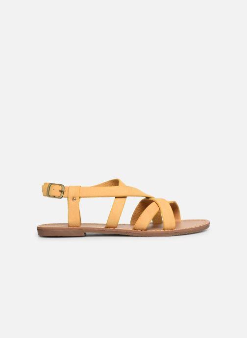 Sandales et nu-pieds Les P'tites Bombes ROMANE Jaune vue derrière