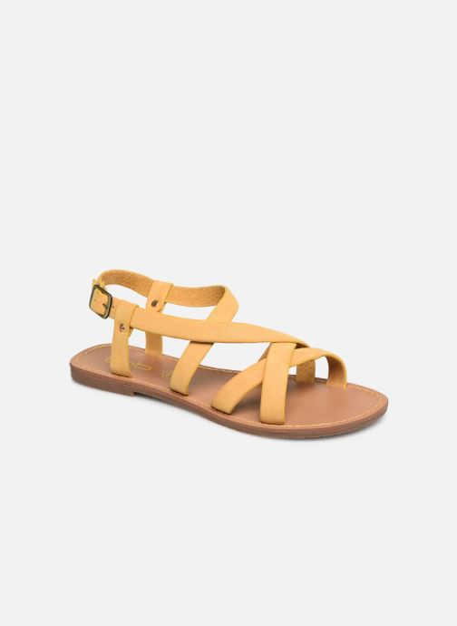 Sandales et nu-pieds Les P'tites Bombes ROMANE Jaune vue détail/paire