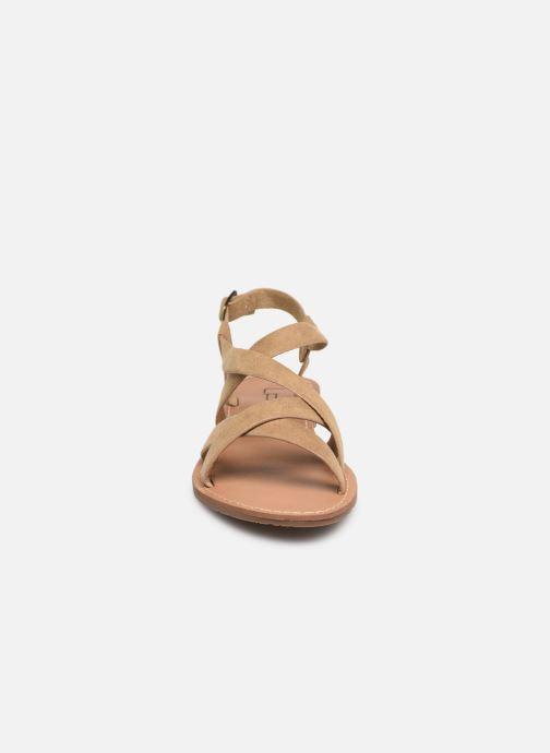Sandales et nu-pieds Les P'tites Bombes ROMANE Beige vue portées chaussures
