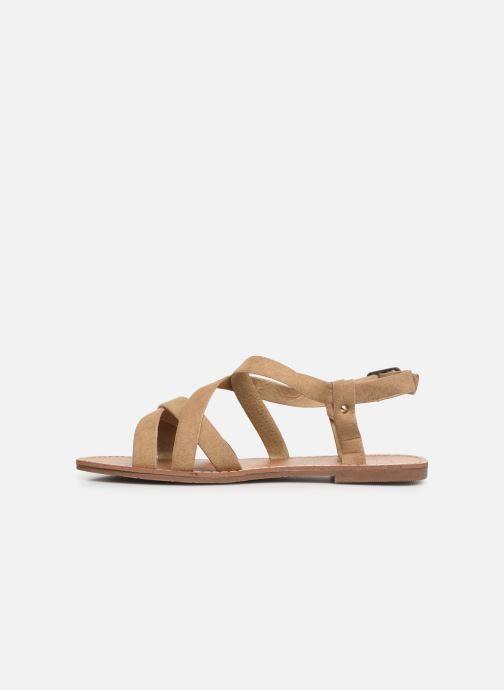 Sandales et nu-pieds Les P'tites Bombes ROMANE Beige vue face