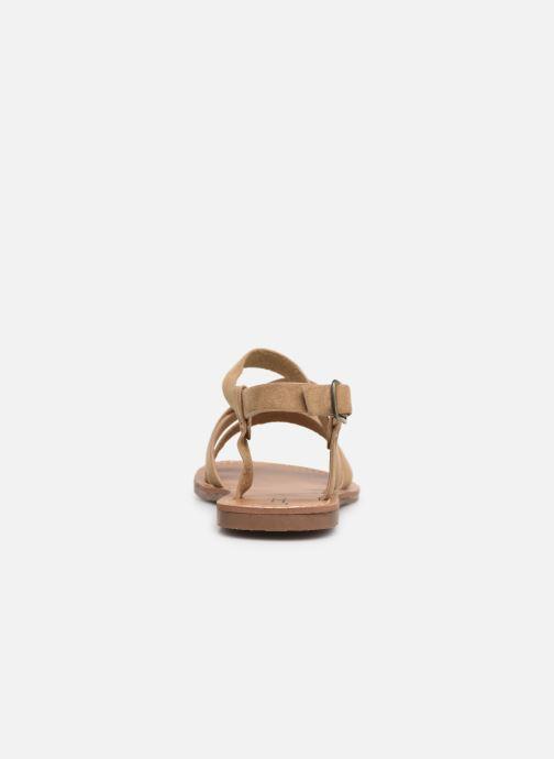 Sandales et nu-pieds Les P'tites Bombes ROMANE Beige vue droite