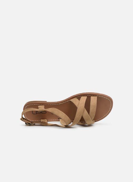Sandales et nu-pieds Les P'tites Bombes ROMANE Beige vue gauche