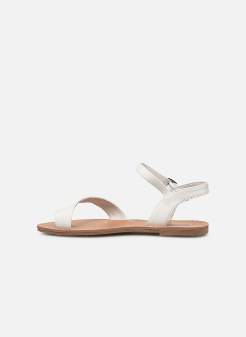 Sandals Les P'tites Bombes TANIA White front view