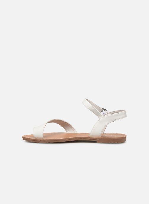 Sandales et nu-pieds Les P'tites Bombes TANIA Blanc vue face