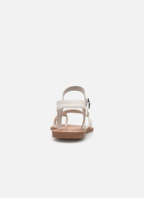 Sandales et nu-pieds Les P'tites Bombes TANIA Blanc vue droite