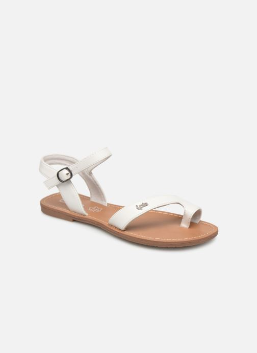 Sandals Les P'tites Bombes TANIA White detailed view/ Pair view