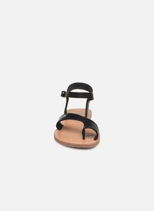 Sandales et nu-pieds Les P'tites Bombes TANIA Noir vue portées chaussures