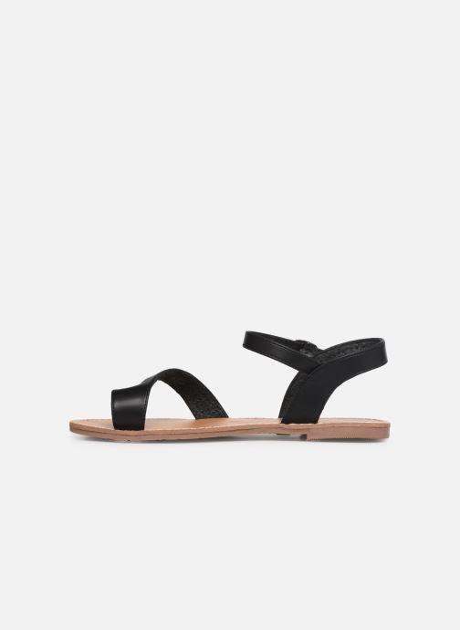 Sandales et nu-pieds Les P'tites Bombes TANIA Noir vue face