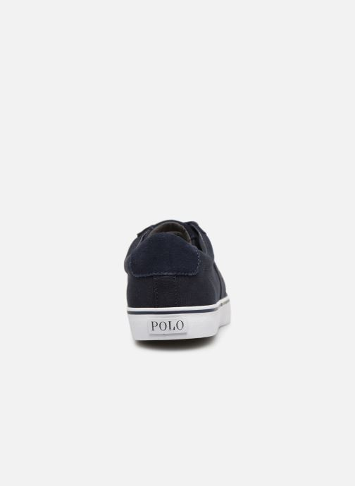 Baskets Polo Ralph Lauren Sayer - Canvas Bleu vue droite