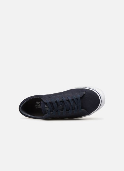 Baskets Polo Ralph Lauren Sayer - Canvas Bleu vue gauche