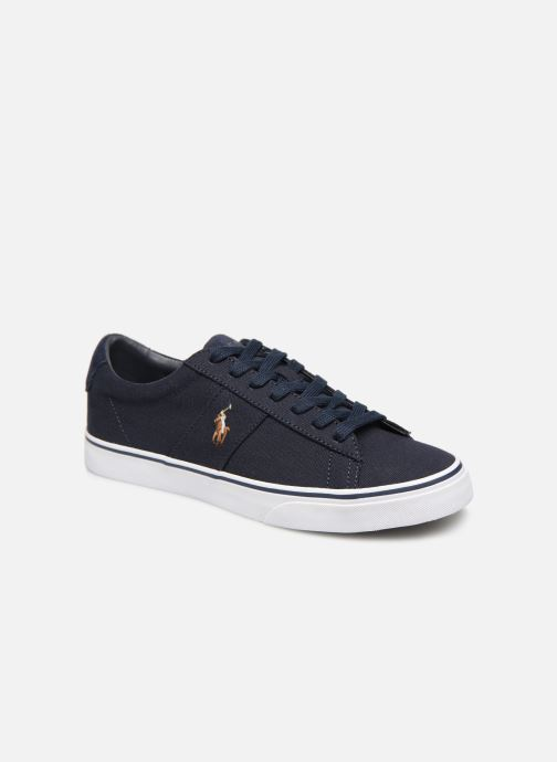 Baskets Polo Ralph Lauren Sayer - Canvas Bleu vue détail/paire