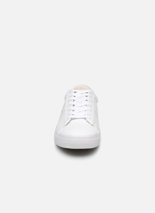 Baskets Polo Ralph Lauren Sayer - Canvas Blanc vue portées chaussures