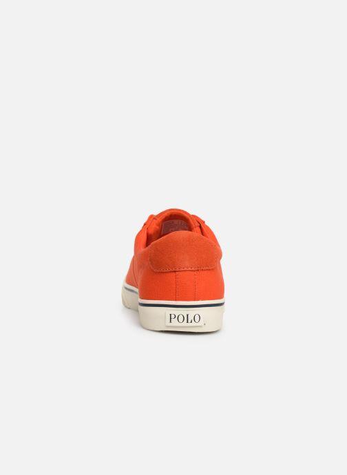 Baskets Polo Ralph Lauren Sayer - Canvas Orange vue droite
