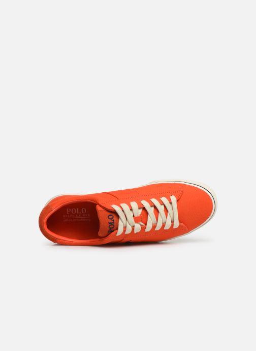 Baskets Polo Ralph Lauren Sayer - Canvas Orange vue gauche