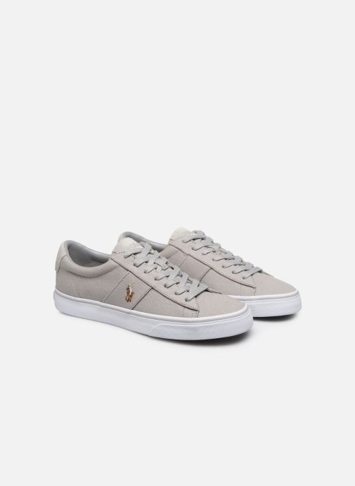 Baskets Polo Ralph Lauren Sayer - Canvas Gris vue 3/4