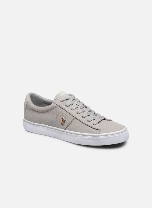 Baskets Polo Ralph Lauren Sayer - Canvas Gris vue détail/paire