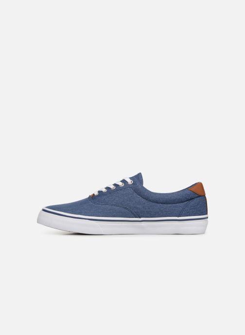 Baskets Polo Ralph Lauren Thorton Sneaker -Vulc - Washed Twill Bleu vue face