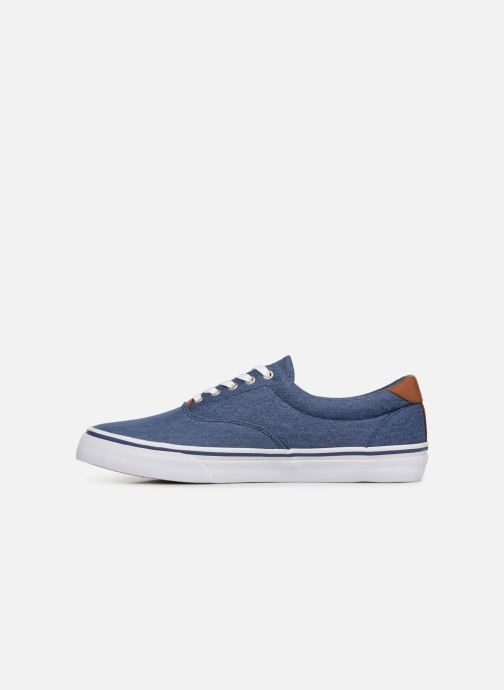 Sneakers Polo Ralph Lauren Thorton Sneaker -Vulc - Washed Twill Blauw voorkant