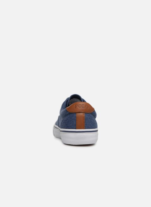 Baskets Polo Ralph Lauren Thorton Sneaker -Vulc - Washed Twill Bleu vue droite