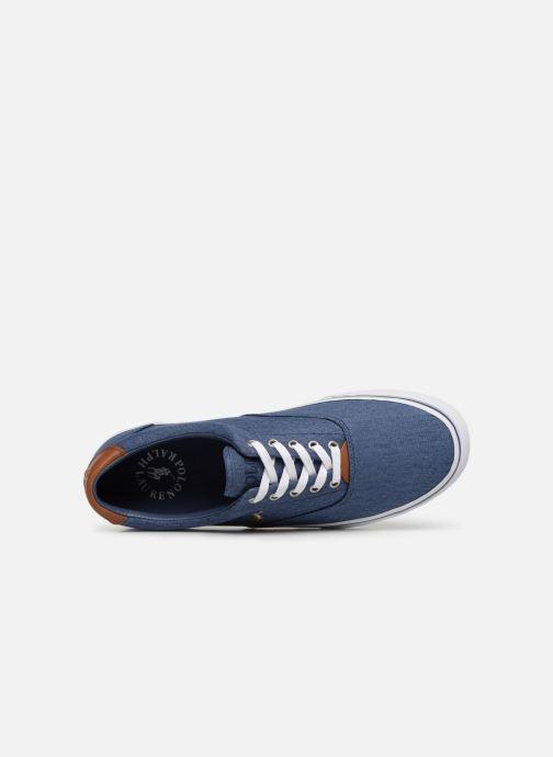 Baskets Polo Ralph Lauren Thorton Sneaker -Vulc - Washed Twill Bleu vue gauche