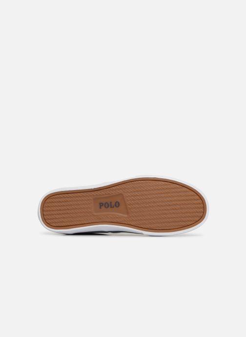 Baskets Polo Ralph Lauren Thorton Sneaker -Vulc - Washed Twill Bleu vue haut