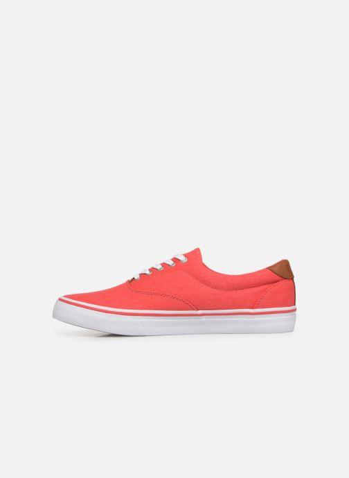 Deportivas Polo Ralph Lauren Thorton Sneaker -Vulc - Washed Twill Rojo vista de frente