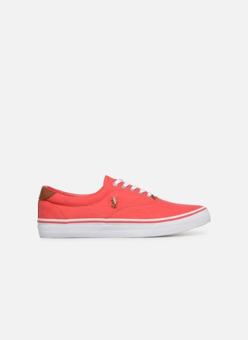 Deportivas Polo Ralph Lauren Thorton Sneaker -Vulc - Washed Twill Rojo vistra trasera