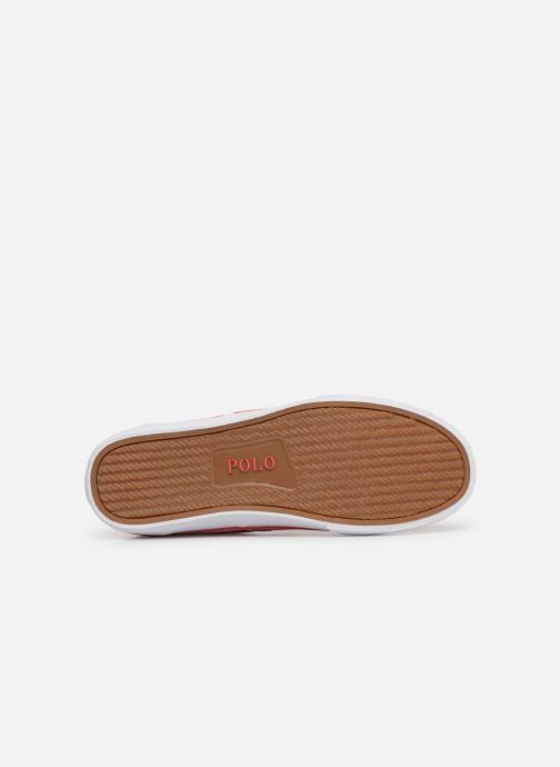 Baskets Polo Ralph Lauren Thorton Sneaker -Vulc - Washed Twill Rouge vue haut